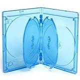 ELITE Blu-Ray Hüllen für 6 Discs - 15mm - 5 Stück - blau
