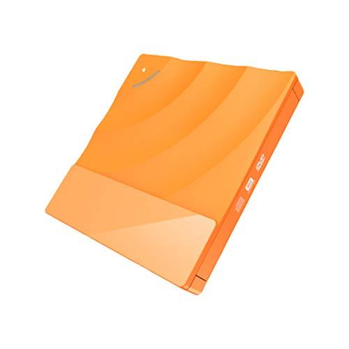HIOD Optisches Laufwerk CD Laufwerk Externe CD/DVD +/- RW Tragbar Berührungs Steuerung Rewriter Brenner für Laptop/PC/Windows/Mac OS,Orange (Orange-pc-steuerung)