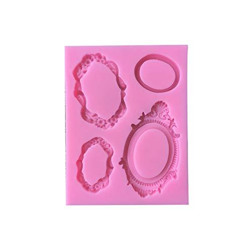 Spiegel Rahmen Silikon Schokolade Keks Kuchen dekorieren Form zum Backen-Pink ()