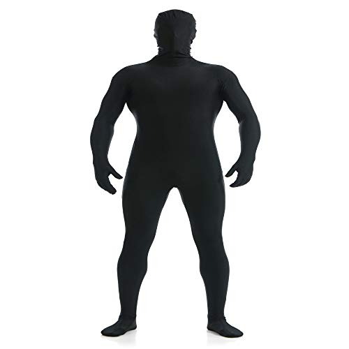 Männer Kostüm Ninja Black - ZYFDFZ All Inclusive Strumpfhose Elastic Stage Black Man Kostüme Halloween Kostüm Ninja Unsichtbarkeitsumhang Cosplay Requisiten (Farbe : Schwarz, größe : Xl)