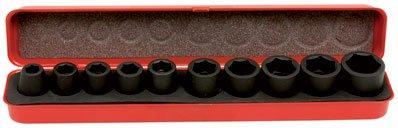 MOB Outillage 9212010501 Coffret de Douilles Impact 1/2'' 10 à 24 mm 10 pièces