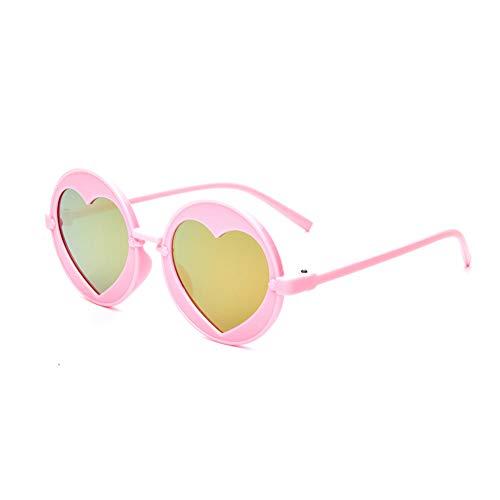 Wenkang Sonnenbrillen Fashion Brillen Designer Love Girl Boy Brillen Uv400 Round Heart Sonnenbrillen,C6