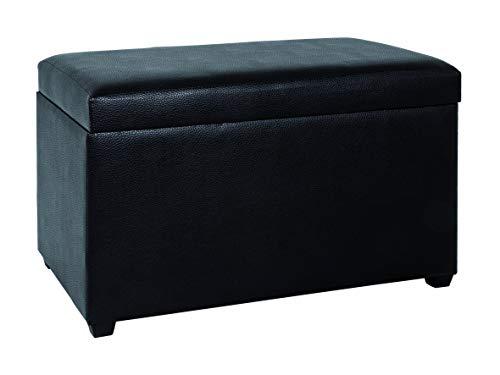 Haku Möbel 30586 Coffre de Rangement MDF/Simili Cuir Noir 40 x 65 x 42 cm