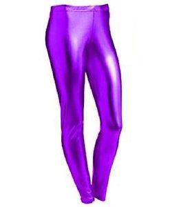 Leggings im Metallic-/Nasslook, für 4-13 jährige Mädchen, glänzend, für Halloween / Kostümfeiern Gr. 11-12 Jahre, violett (Halloween-leggings)