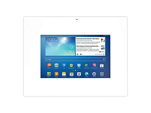 fernseher rahmen TabLines TWE003W Tablet Wandeinbau Samsung Galaxy Tab 3 10.1, diebstahlsicher, weiß