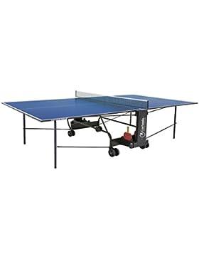 Garlando Tavolo da Ping Pong Challenge Indoor Con Ruote Per Interno Blu