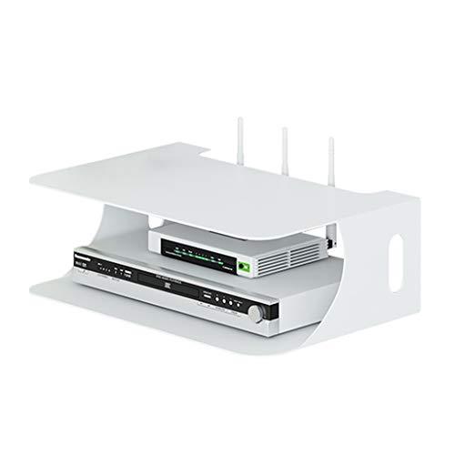 Set Top Box Wandregale Wandregal für Set Top Box Wandständer für Set Top Box und DVD Wireless WiFi Router Aufbewahrungsbox mit gutem Gewicht (Color : Black, Size : 28CM*20CM*10CM) -