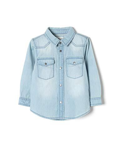 ZIPPY ZTB0301_455_5 Camisa, Bebé-Niños, Azul (Light Blue 2601), (Tamaño del Fabricante:18/24M)