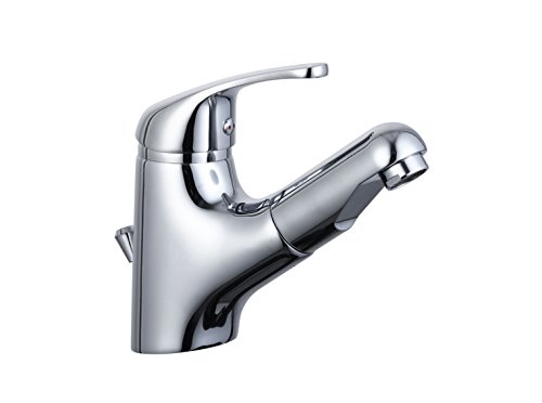 Eisl Waschtischarmatur Vico, Badezimmerarmatur, Einhebelmischer mit Haarbrause, Chrom, NI075TCO