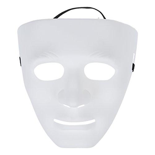 PQZATX Leere maennliche Maske Halloween Kostuem Drama Maske