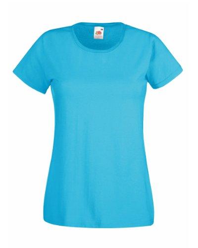 Fruit Of The Loom Lady-Fit Valueweight Damen T-Shirt (L) (Lichtblau) L,Lichtblau