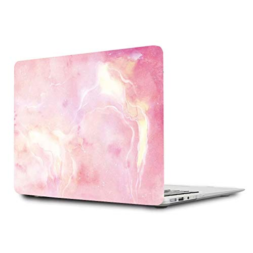 MacBook Air 11 Hülle,Maetek Plastic Pattern Hard Case Shell, Apple Laptop Folio Protective Cover with Bright Color Pattern for MacBook Air 11.6 Model A1370&A1465, Pink Starry