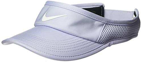 Nike Damen Aerobill Featherlight Visor, Oxygen Purple/White, One Size - Tennis Visor