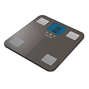 Salter 9179SV3R Max 250 Kilogram, Digital Scales Measure Weight, Body Fat Water, 10 User, Step-On Feature
