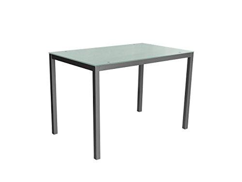 Eurosilla Mirror110 Mesa para Cocina, Metal, Blanco, 110 x 70 x 75 cm
