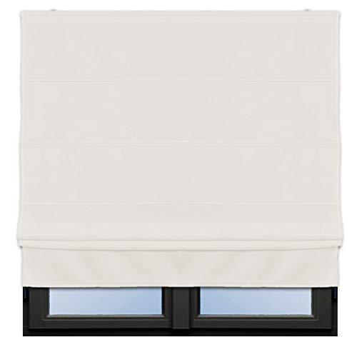 JEMIDI Raffrollo Klemmfix - Ohne Bohren anzubringen- Rollo Seitenzugrollo Jalousien Blickdicht zum Klemmen oder Bohren Klemmfix Weiß 100cm x 160cm