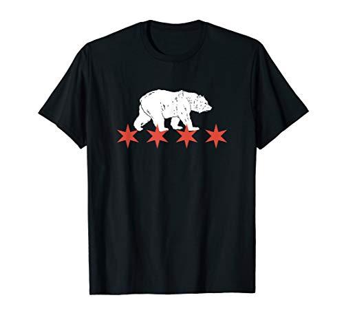 Chicago Flag Bear Windy City USA T-Shirt