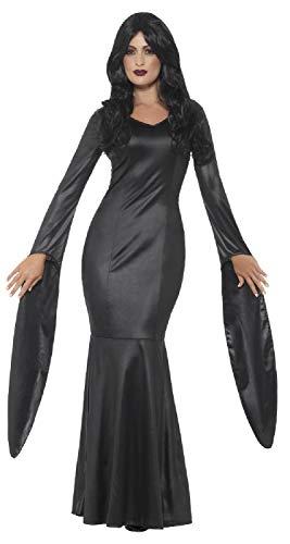 Vampir Unsterblichen Kostüm - Fancy Me Damen-Kostüm, Wet-Look, unsterblicher Vampir, Gothic, Halloween, Größe 36-44, Schwarz
