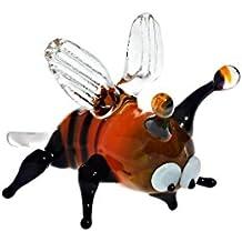CRISTALICA Glas Figur, Glastier für Vitrine BIENE unterschiedliche Farbkombinationen möglich da hochwertige handgeformte Unikate, ANIMALS (ART GLASS powered by