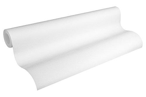 A.S. Création überstreichbare Vliestapete Meistervlies Tapete 25,00 m x 1,06 m weiß Made in Germany 324115 3241-15