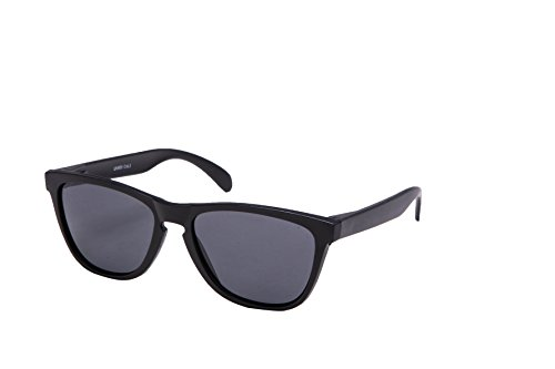 enbrille Polarisierte Linsen Retro Vintage Style Nerd Look Stil Unisex Brille - Schwarz Dunkle Glässer (Dunkle Schwarze Sonnenbrille)