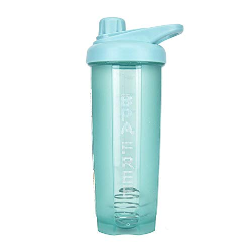 GHJTL Protein Shake Flasche Mixing Cup Kaffeetasse Melkmaschine Portable Travel Chocolate Milk Cup Gym Büro Küche Travel Family Mixed Saft,Green-500ML
