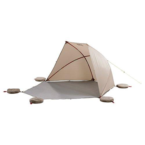 Jack Wolfskin Vario Beach Shelter verstellbares Dach UV-Schutz Strandmuschel, Sahara, ONE Size -