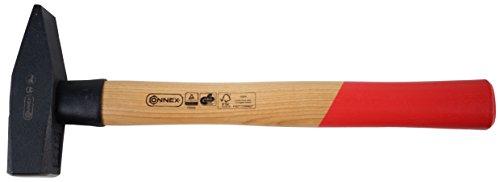 Connex Schlosserhammer 800 g, Holzstiel / Stielschutz / Hammer / Ingenieurhammer / Stahlhammer / Werkzeug / COX600800