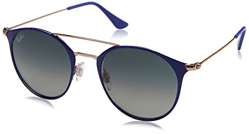 Ray-Ban Rayban Unisex-Erwachsene Sonnenbrille Rb3546 9073a5 49mm Copper On Top Violet/Greygradientdarkgrey 49