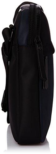 Calvin Klein - Pochette Bo Crossover, Uomo Multicolore (Multicolore (Black/Blue Wing Teal))