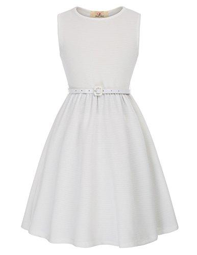 GRACE KARIN Maedchen Sommerkleid 1950er Retro Kleid 10-11 Jahre CL10482-7
