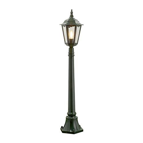 100w Kandelaber (Konstsmide Firenze 7215-600 Standleuchte B: 23,5cm T: 23,5cm H: 120cm / 1x100W / IP43 / lackiertes Aluminium / grün)