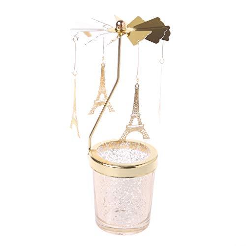 Baiyao Weihnachten drehendes Spinnen Kerzenleuchter Kerzenständer Kandelaber für Jubiläumsfeier-Tischdekoration, traditionelles Dekor -
