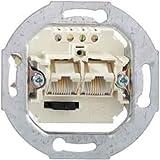 Rutenbeck 13010440–Steckdose Unterputz ISDN IAE/UAE 2fach 2x 4polig 4Bornas