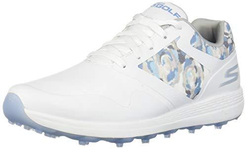 Skechers Golf 2019 Go Golf Max - Scarpe da Donna Senza Punta, Donna, 14875, White/Blue, 8.5 M US