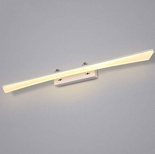 Atmosphärisches Badezimmerspiegellicht vorne Anti-Fog-Dressing wasserdicht Moderner minimalistischer Tisch Beleuchtung Nachttoilette (Farbe: Warmweiß-8w40cm) -