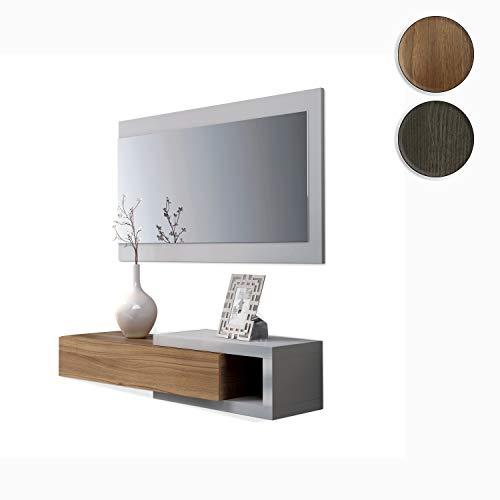 Habitdesign - Recibidor con cajón + Espejo, Medidas 19 x 95 x 26 cm de Fondo