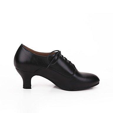 Scarpe da ballo-Personalizzabile-Da donna-Moderno-Tacco cubano-Di pelle-Nero / Rosso / Bianco White