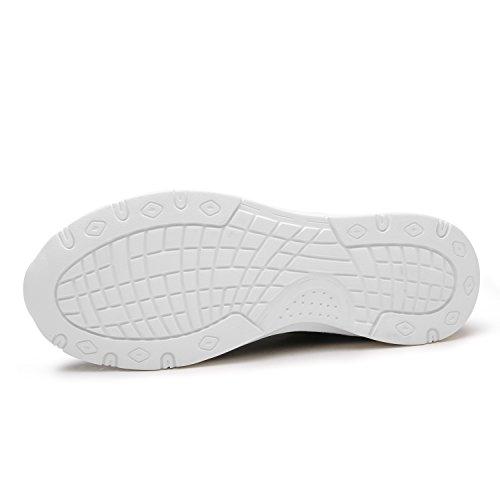 Maylen Hughes Männer Frauen Laufschuhe Trainer Casual Lace Up Schuhe Leichtgewicht Walking Gym Sportschuhe Marine(mit Pelz)