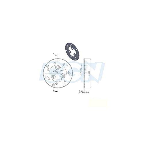 DISQUE FREIN SCOOTER AV NG ADAPT. LUDIX /V-CLIC/ BIG MAX/ ZENITH/BOOSTER JUSQU'A 99 d.155mm