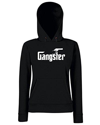 T-Shirtshock - Sweats a capuche Femme OLDENG00504 gangster Noir