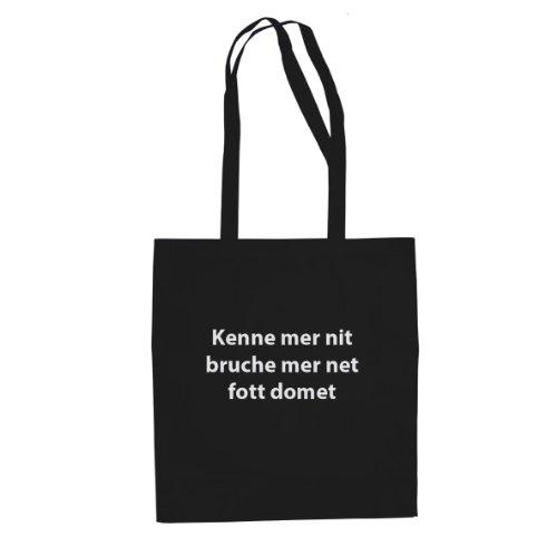 Kenne mer nit - Stofftasche / Beutel Schwarz