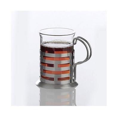 Teeglas mit Edelstahlhalter 200 ml