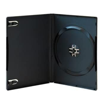 100 Stück DVD-Hüllen für 1 DVD/CD Kunststoff schwarz mit Folie für Cover 14mm