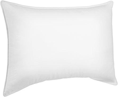 Amazonbasics - guanciale in piuma sintetica, 2 pezzi da 50 x 75 cm