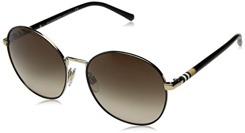 BURBERRY Damen 0Be3094 114513 56 Sonnenbrille, Gold/Brown