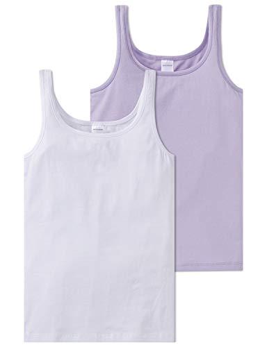 Schiesser Mädchen Multipack 2 Pack Tops Unterhemd, Mehrfarbig (Sortiert 901), 152 (Herstellergröße: S) (erPack 2)