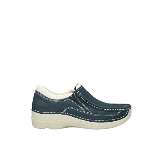 4046e9f55d09f0 Wolky Comfort Slippers Roll Sneaker - 10820 denim blau Nubukleder - 39