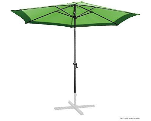 Ondis24 Marktschirm 3 Meter Sonnenschutz Sonnenschirm 300 cm rund mit Kurbel, UV 50, zweifarbig, Grün
