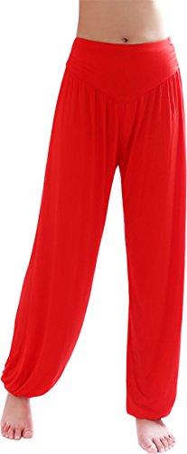 HOEREV Marca Super Soft Soft Spandex Pantaloni Harem Yoga / Pilates